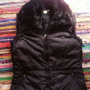 Coldwater creek faux fur lined vest